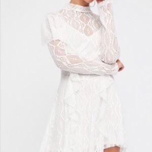 Free People Rock Candy White Lace Dress Sz.  Med.